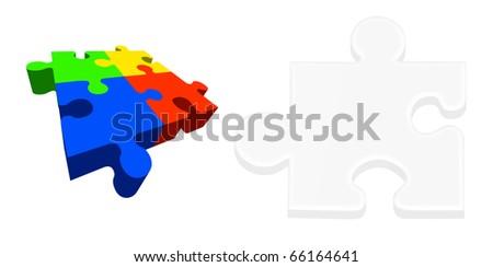 Puzzle illustration on white background