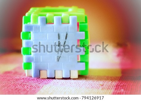 puzzle in cube shape #794126917
