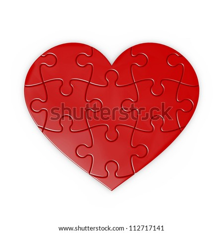 puzzle of a heart