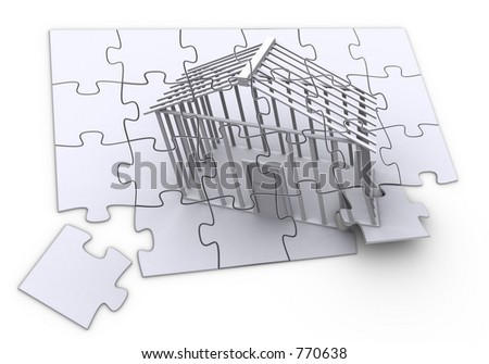 Puzzle of construction.