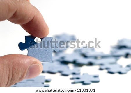 puzzle on the white background