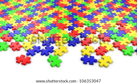 Puzzle on white background.