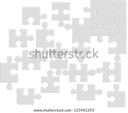 Puzzle pattern. Raster version, vector file available in portfolio.