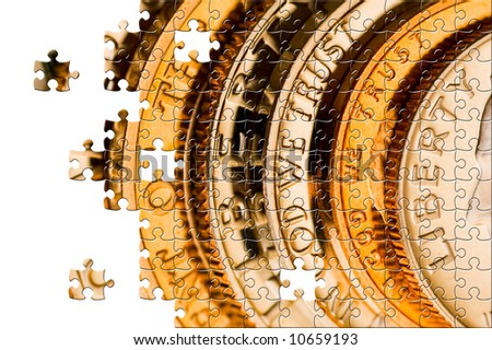 Puzzle Perfect uncirculated american currency