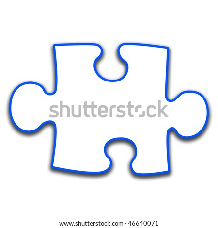 Shaped Puzzles on Puzzle Piece Stock Photo 46640071   Shutterstock