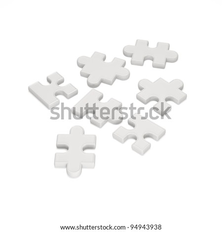 Puzzle Piece on white background
