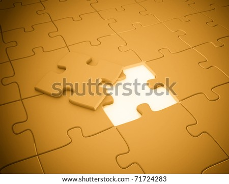 Puzzle piece the missing piece