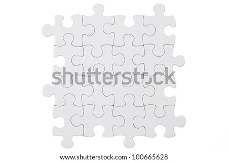 Puzzle pieces isolated on a white background.