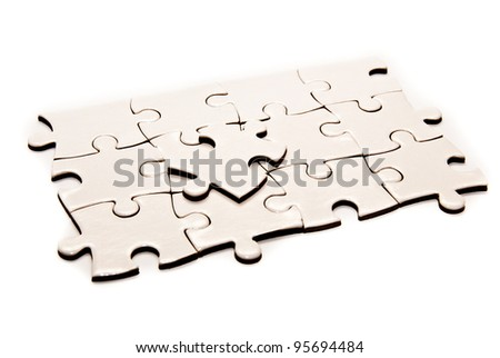 puzzle pieces isolated on a white background