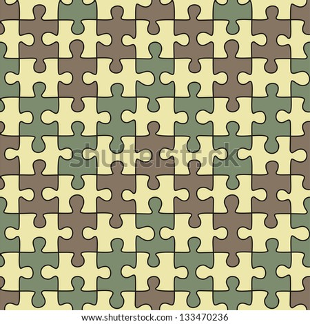 Puzzle seamless pattern. Raster version, vector file available in portfolio.