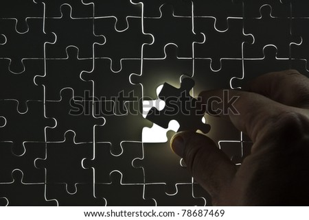 Puzzle with a missing part