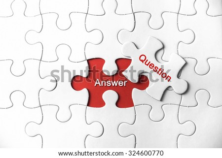 Puzzle with a word Answer and Question