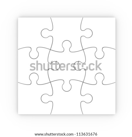 puzzle with clipping path