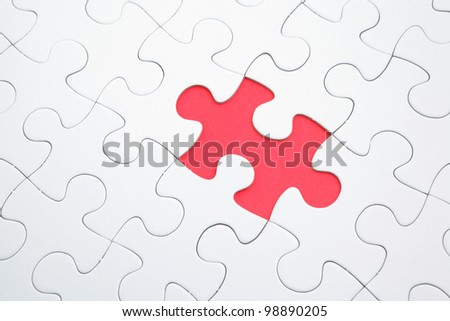puzzle with missing parts