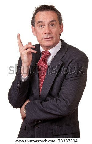 Puzzled Surprised Middle Age Business Man in Suit