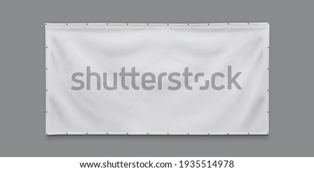 PVC advertising banner with eyelets Stock photo ©