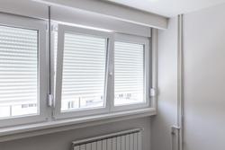 PVC window in white room
