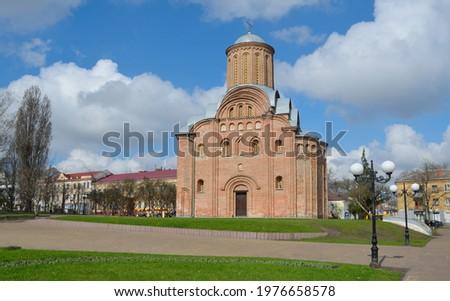 Pyatnytska or St. Paraskeva church is a functioning church in Chernihiv, Ukraine. Stok fotoğraf ©