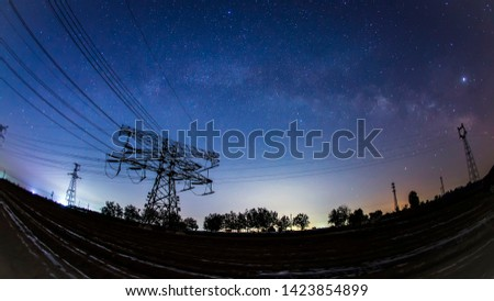 Pylon and star, pylon and the Milky Way #1423854899