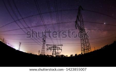 Pylon and star, pylon and the Milky Way #1423855007