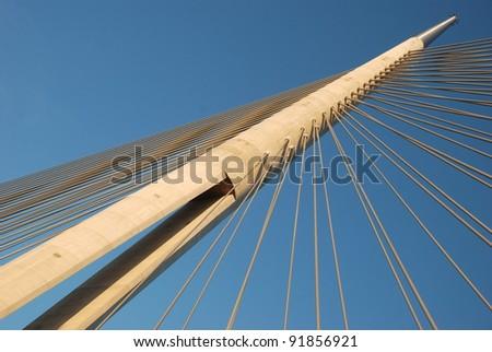 """Pylon bridge, """"Bridge over Ada"""" Belgrade - Serbia"""