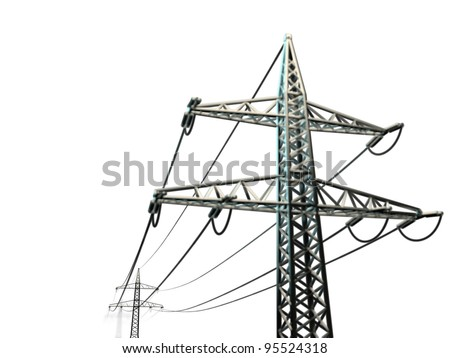 pylon isolated on white background