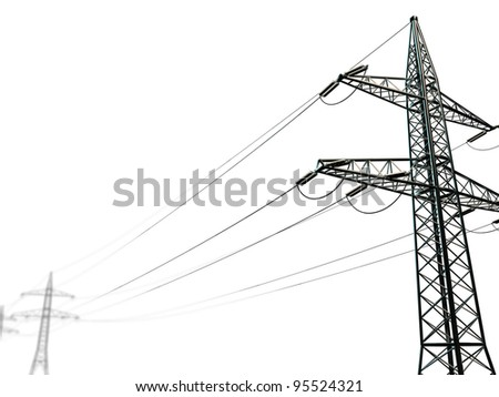 pylon isolated on white background