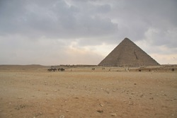 pyramid before the storm is coming, landmark of Egypt
