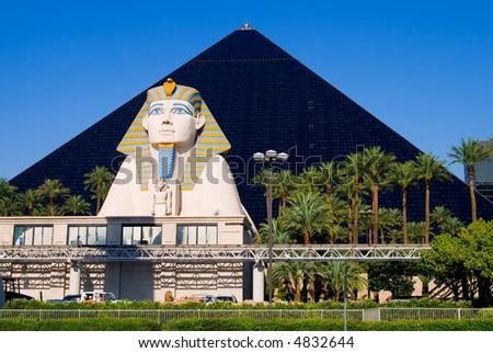 Pyramid Hotel and Sphinx in Las Vegas