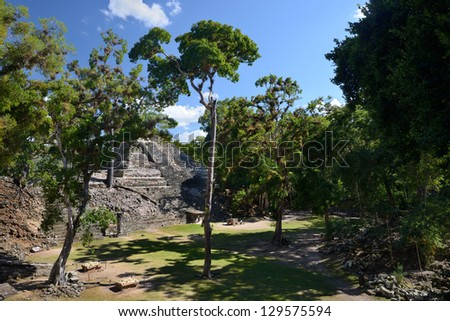 Pyramid in the ancient Mayan city of Copan in Honduras.