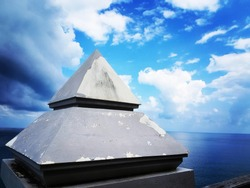 pyramid in the ocean