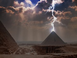 Pyramid Lightning. Power Energy Light.