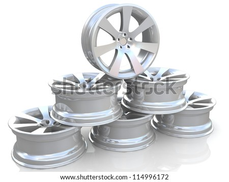Pyramid of the car wheels