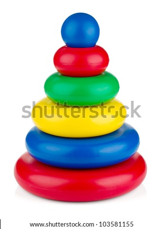 Pyramid toy. Isolated on white background