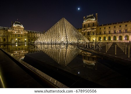 Pyramide du Louvre, Paris, France