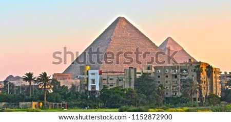 Pyramids Cairo Giza Nile Night Camel sphinx Cairo tower pharaohs  #1152872900