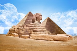 Pyramids Egypt with Great Sphinx