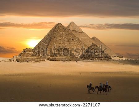 Pyramids Fantasy - stock photo