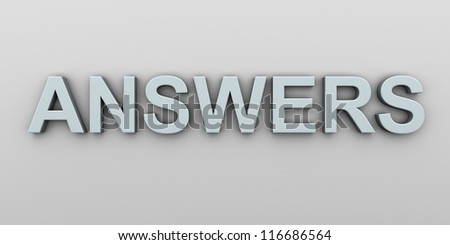 Q&A  3d illustration. - stock photo