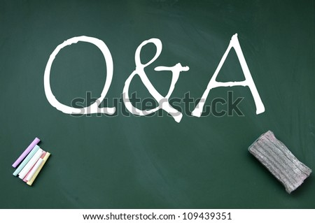 q and a symbol - stock photo