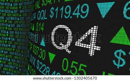 Q4 4th Quarter Period Stock Market Ticker Words 3d Illustration Foto stock ©