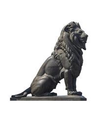 Qasr El-Nile Lion Statue Isolated on White
