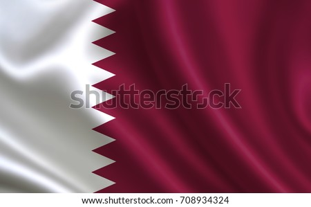 """Qatar flag. A series of """"Flags of the world."""" (The country - Qatar flag)"""