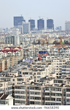 QINGDAO - FEB. 29: Cityscape on Feb. 29, 2012 in Qingdao. Qingdao is a major city with a population of over 8.715 million (2010 census) in eastern Shandong province, Eastern China.
