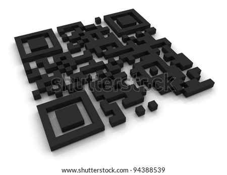 QR Code - stock photo