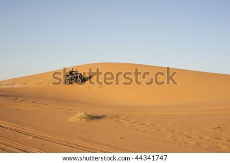 quad bike in the desert