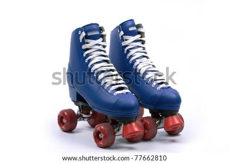 Quad skates, isolated