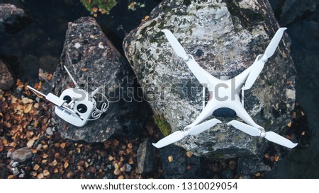 Quadcopter Drone Outdoors