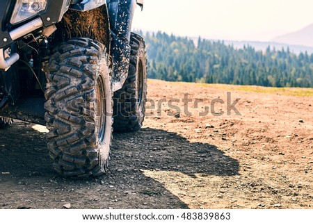 Quadricycle in the mountains Stock photo ©