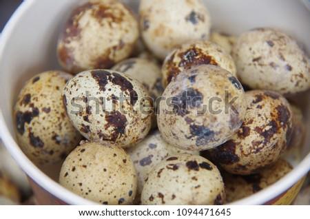 Quail eggs are a very nutritious food. #1094471645